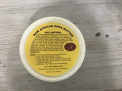 Raw Unrefined African Shea Butter - 8oz, 16oz, 32oz Containers by Sheanefit (Yellow 8oz)