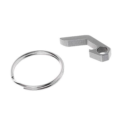 BulingLU - Mini abridor portátil de acero inoxidable llavero ...