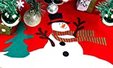 Classic Red Christmas Snowman Tree Skirt 30""