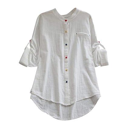 5526a1e8dfbd7c Amazon.com  Big Sale! Women Tops Daoroka Sexy Long Sleeve Cotton Linen  Button Pocket Casual Blouse Fashion Tunic T Shirt  Toys   Games