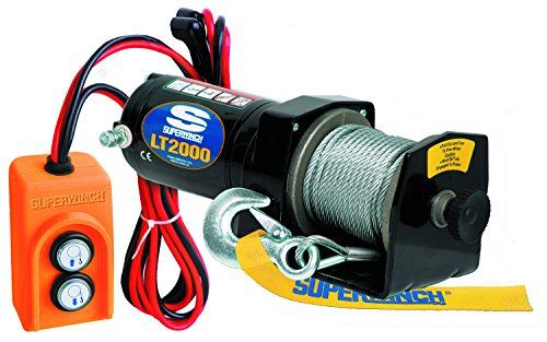 V Utility Winch (2,000lb),Pink (Superwinch 12vdc Electric Winch)