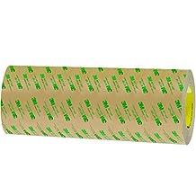 "BOX BT96124671PK 3M 467MP Adhesive Transfer Tape, Hand Rolls, 12"" x 60 yd., Clear"