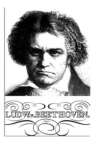 - JP London Solvent Free Art Print PAPM2478 Ready to Frame Poster Ludwig Beethoven Composer Portrait at 36