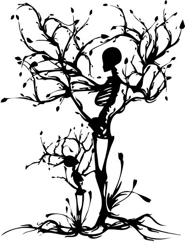 YINGKAI Personality Skull Tree Propose Living Room Vinyl Carving Wall Decal Sticker For Halloween Party Home Decoration]()