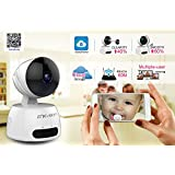 Home Camera Surveillance Wireless 1.0Mp 720P HD Two-Way Audio Night Vision Motion Detection Alerts Pan/Tilt/Digital Zoom Dome Camera for Baby/Elder/Pet/Nanny Monitor
