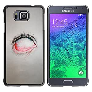 FU-Orionis Colorful Printed Hard Protective Back Case Cover Shell Skin for Samsung ALPHA G850 - Emo Sexy Skinny Girl