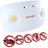 SANIA TomCat – Dual Speaker Ultrasonic & Electro Magnetic Pest Repeller–Electronic Deterrent for Home - Effective Sonic Defense Repellant Keeps Roaches, Spiders, Mosquitos, Mice, Away (1)