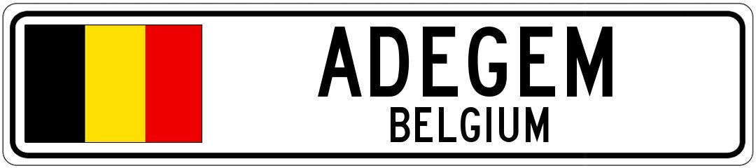 Amazon Com Adegem Belgium Belgium Flag City Sign 6 X24