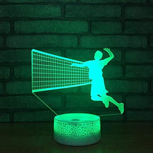 Lanbba Nueva Nueva Nueva Voleibol 3D Luz De Noche Colorido Toque Pequeña Lámpara De Mesa Regalos Para El Hogar 27fd76
