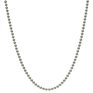 iJewelry2 Round Bead Ball Sterling Silver 1.5mm Chain Necklace 16