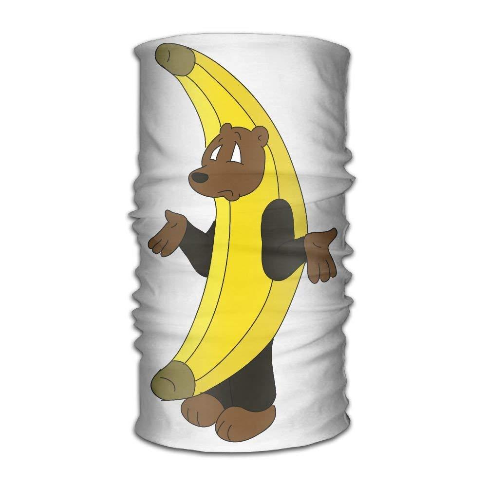 Banana Bear Unisex Fashion Quick-drying Microfiber Headdress Outdoor Magic Scarf Neck Neck Scarf Hooded Scarf Super Soft Handle