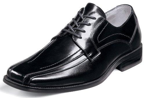 Chaussure À Lacets En Cuir Noir Corrado Stacy Adams Mens 23274 (7 W, Noir)