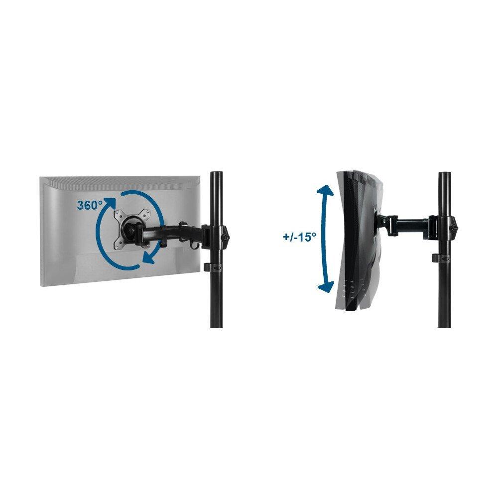 15kg par Bras Noir R/èglages Faciles Installation sur Bureau ARCTIC Z3 Basic Flexibilit/é /Écran jusqu/à 43//49 Ultrawide Bras de Moniteur Support pour 3 /Écrans VESA 75//100