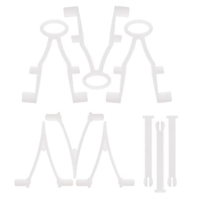 U.S. Pool Supply 9 Piece Pool Accessory Butterfly V Clips & Locking Pins Replacement Set - 3 EZ & 3 Standard Pole Attachment Clips for Skimmer Net, Leaf Rake, Brush - 3 Vacuum Head Handle Locking Pins : Garden & Outdoor