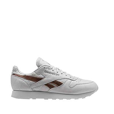 f747a9e4a91 Reebok CL Leather TU-Grey-44 Reebok Hombre  Amazon.co.uk  Shoes   Bags