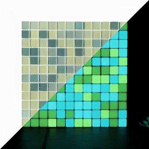 illumino Opus One YELLOW GREEN Glow-in-the-dark Glass Tile/1 sheet 12.3