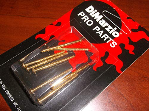 DiMarzio FH1500 Pickup Height Adjustment Screws For P. Bass (8) - GOLD