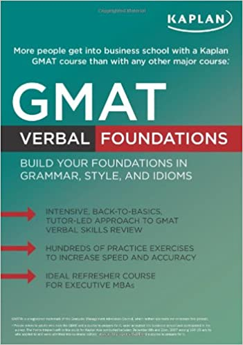 Kaplan GMAT Verbal Foundations 9781607140870 Higher Education Textbooks at amazon