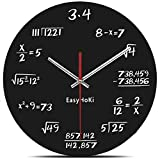 EasyHoKi [Updated Version] Math Wall Clock Silent - Can you Calculate the Mathematical Formula?
