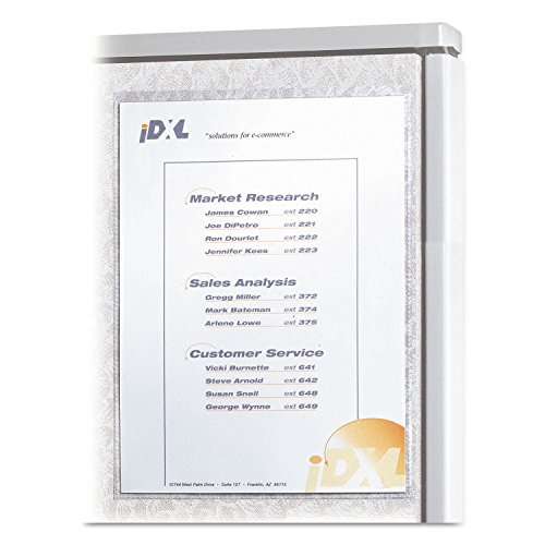 Cubicle Keepers, Velcro-Backed Display Holders, 8 1/2 x 11, Clear, 2/Pack, Sold as 2 Each (Velcro Holders Backed Display)