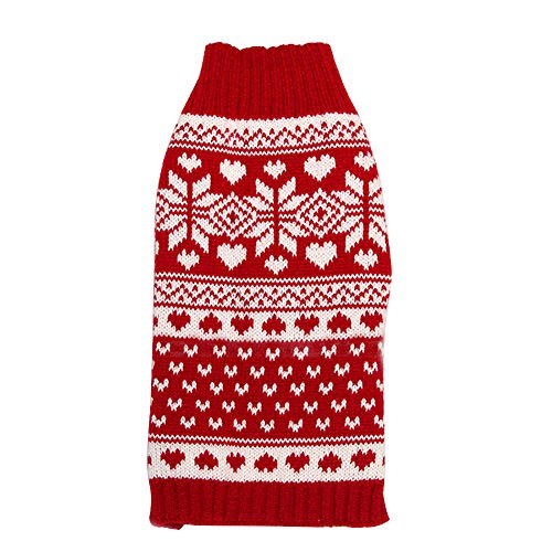 [EFINNY Pet Cat Dog Christmas Costume Snowflake Turtleneck Knited Cotton Sweater] (Zebra Cat Costume)