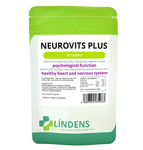 Neurovits 2-PACK x 180 Tablets Vitamin B-12 500mcg, B-1, B-6 & Folic Acid B1 B6
