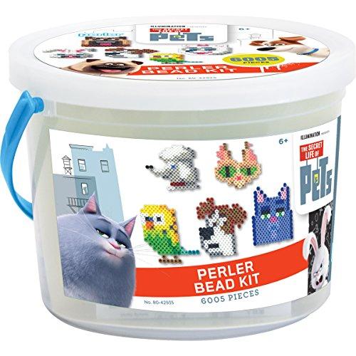 Perler Beads Secret Life of Pets Craft Bead Bucket Activity Kit, 6005 ()