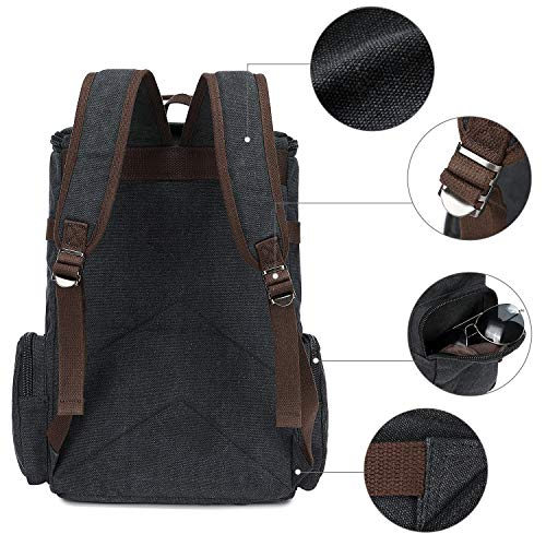 School Backpack Vintage Canvas Laptop Backpacks Men Women Rucksack Bookbags