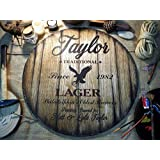 Personalized decor sign inspired by old beer barrels | Custom Gifts for men | Unique Husband, Dad, Groom, Best Man Gift | Rustic Living room, Home Bar, Man Cave decoration