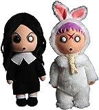 Mezco Toyz Living Dead Dolls Creepy Cuddlers Series 1 Set of Both Plush Sadie Eggzorcist