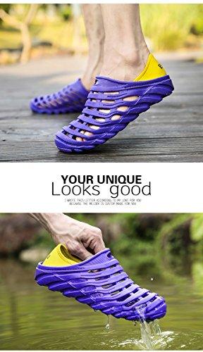 Comfort Summer RARKOR Breathable Outdoor Aqua Shoes Unisex Garden Ultralight Deep Blue Men's Shoes Slippers Hollow Water XpwX8