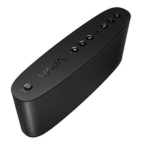 VAVA Voom 21 Wireless Bluetooth Speakers, 3 EQ Modes Customized For Any Music, 20W Surround Sound & Strong Bass, including 10W Subwoofer & Dual Passive Radiators (Charger Port for Phones, aptX, Mic)