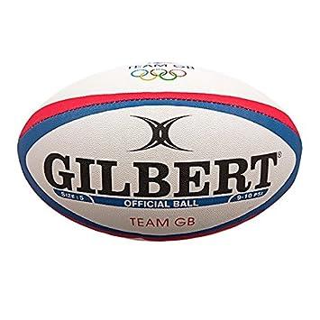 GILBERT - Réplica de la pelota de rugby de Team GB, blanco: Amazon ...