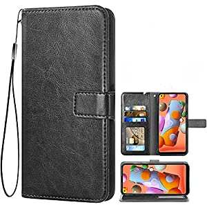 MobileMantra Vintage Wallet for Oppo A54 || Real Leather Wallet Phone Case || Genuine Leather with Viewing Stand & 3…