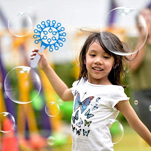 Rainbow Kingdom Bubble Wands Set, Giant Bubble Wands Colorful Bubble Wands Toys Bubble Games for Kids Outdoor Activity Party Favors Wedding Party and Birthday Party