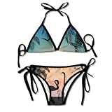 Most Fashion Maker Ladies Lovely Cal Sunset Printing Summer Sexy Two Pieces Swimsuit