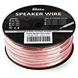 Postta 14-Gauge Speaker Wire Cable with Pure Copper Core Stranded Conductors - 100 Feet