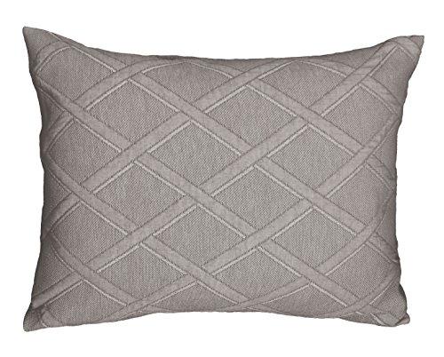 Jacquard Standard Sham (Europa Fine Linens Evora Matelasse Bedding, Standard Sham Size 20-Inch by 26-Inch, Taupe)
