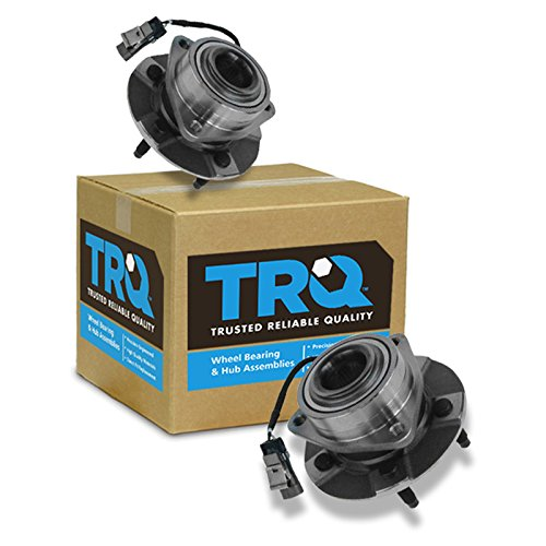 TRQ Front Wheel Hub & Bearing Assembly Pair for Equinox Torrent Vue w/ABS