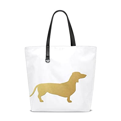 Amazon.com  Animal Dog Dachshund Yellow Pet Small Puppy Adorable Painting  Tote Bag Purse Handbag For Women Girls  Shoes 48c6a19fad