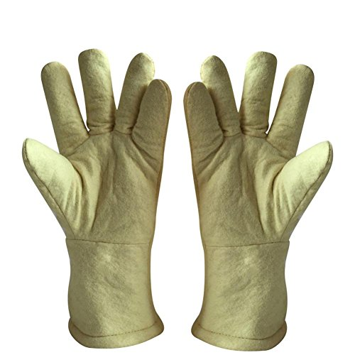 High temperature gloves 500 ? thermal insulation steel plant casting labor insurance products baking oven anti - hot safety protection by LIXIANG (Image #1)