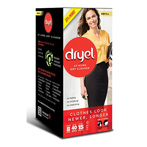 Dryel At Home Dry Cleaner Refill Kit   8 Loads