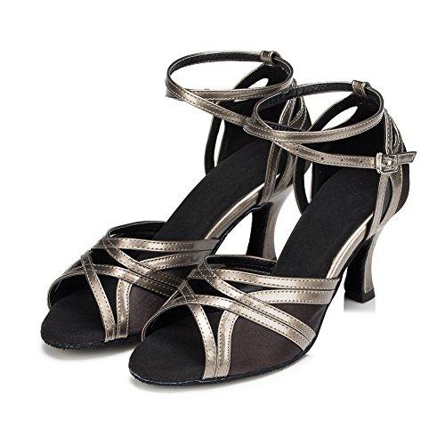 misu , Damen Tanzschuhe Mehrfarbig Schwarz / Grau