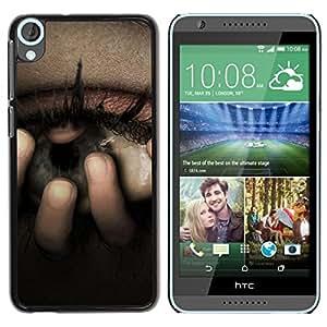 Caucho caso de Shell duro de la cubierta de accesorios de protección BY RAYDREAMMM - HTC Desire 820 - Eye Uneasy Depression Sadness Crying