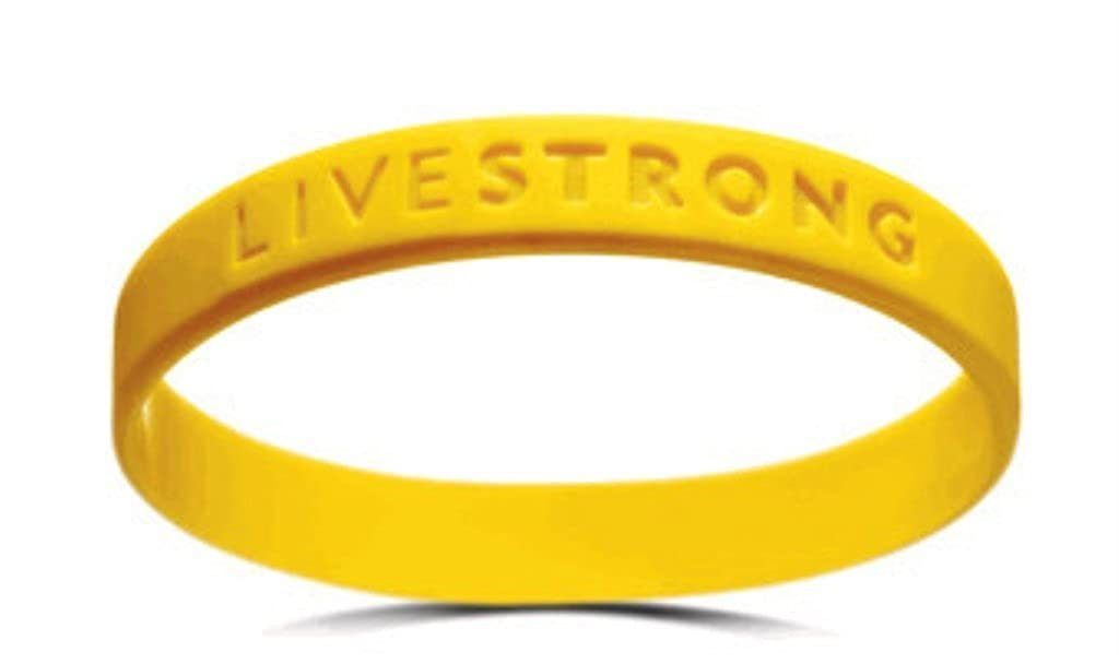 Official Live Strong Lance Armstrong Yellow Cancer LIVESTRONG Rubber Wristband Bracelet Italian Charms Bracelets INC