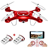 SYMA X5UW WIFI FPV Drone with 720P HD Camera Altitude Hold RC Quadcopter RTF with Extra Battery