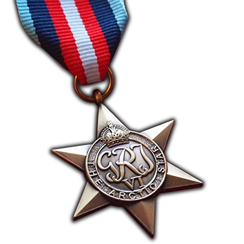 The Arctic Star Military Medal WW2 Commonwealth British Military Award For | Army | Navy | RAF | REPLICA George VI Arctic Convoy Operations