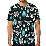 MONTOJ Coniferous Forest Animals Essentials Men's Short-Sleeve T-Shirt Quick-Dry
