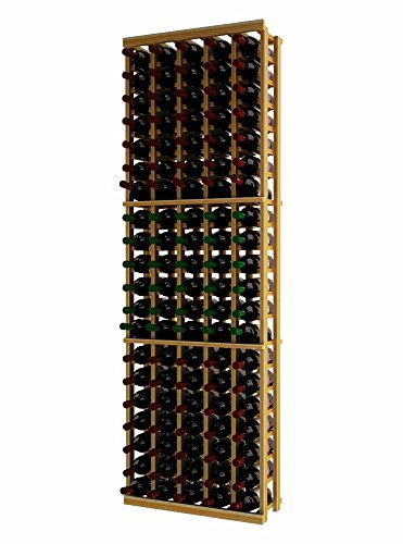 Wine Cellar Innovations TR-UN-5COL-A3 Traditional Series 5 Column Wine Rack, Premium Redwood, Unstained