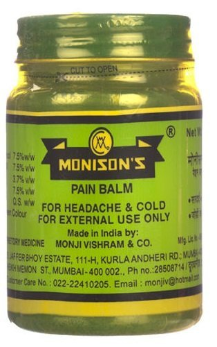 Monisons Pain Balm, Ayurvedic Formula, 100g
